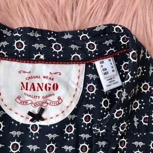 Mango Tops - MANGO Nautical Button Down Shirt